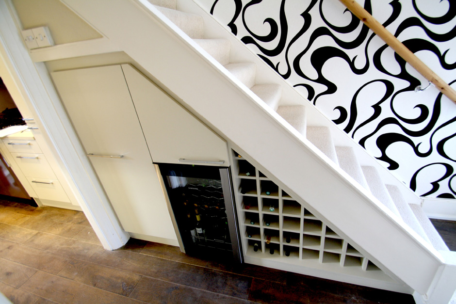 Made To Measure Under Stairs Storage And Wine Rack In South West London Seal Homes