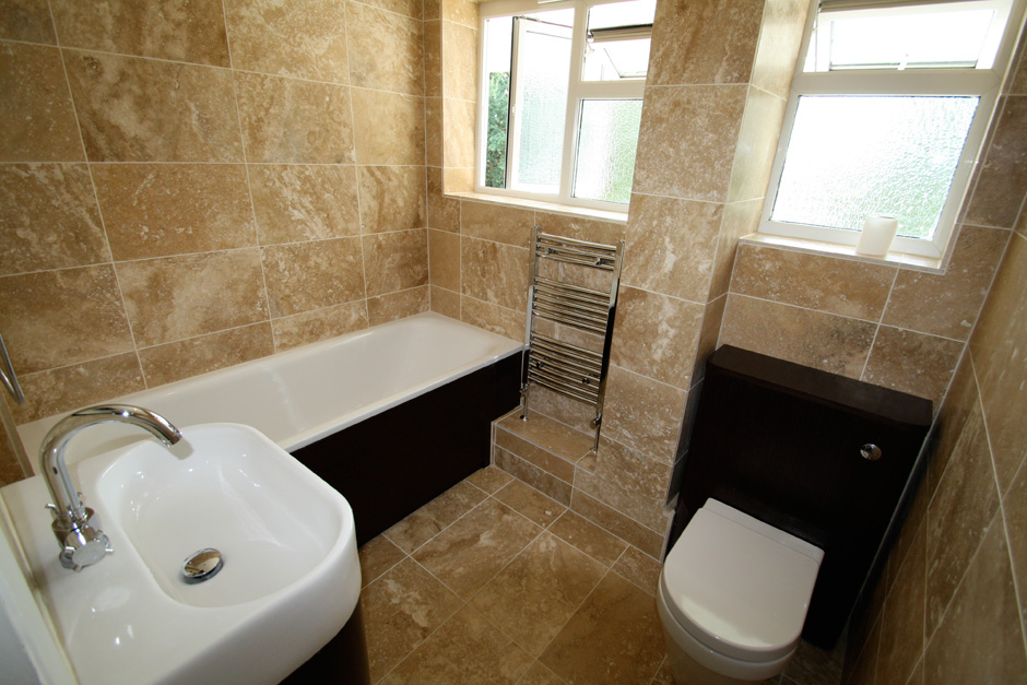 Natural Stone Bathroom Renovation in Kingston Upon Thames Surrey
