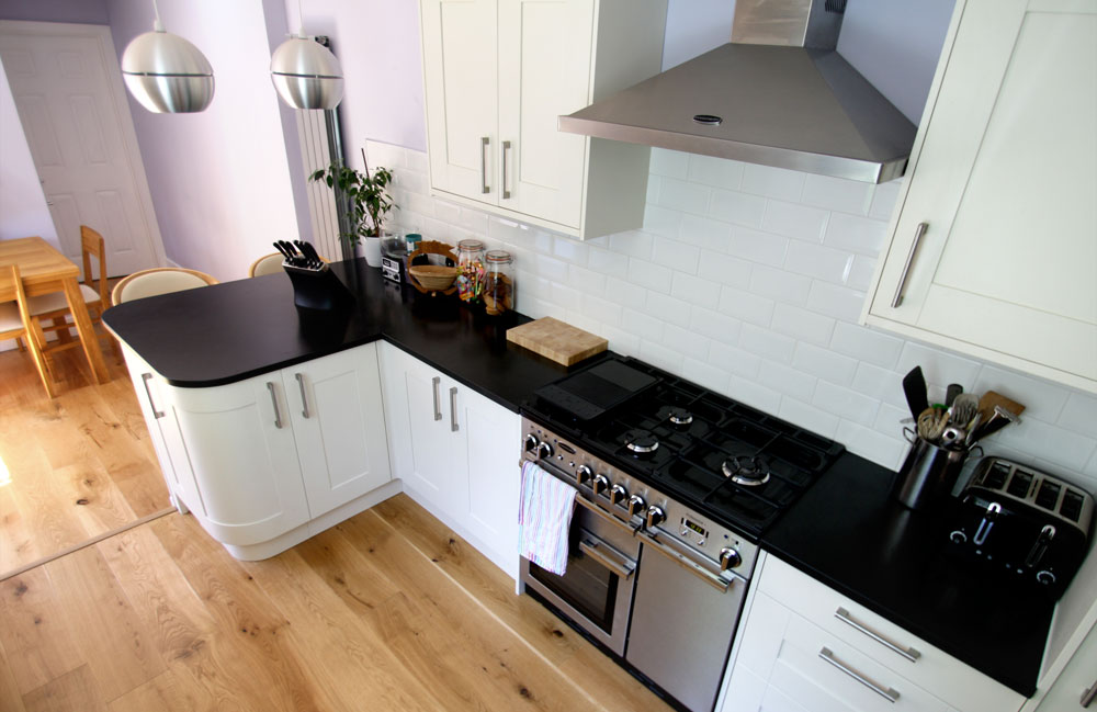 White Kitchen Units Black Worktop gallery | categories | seal homes