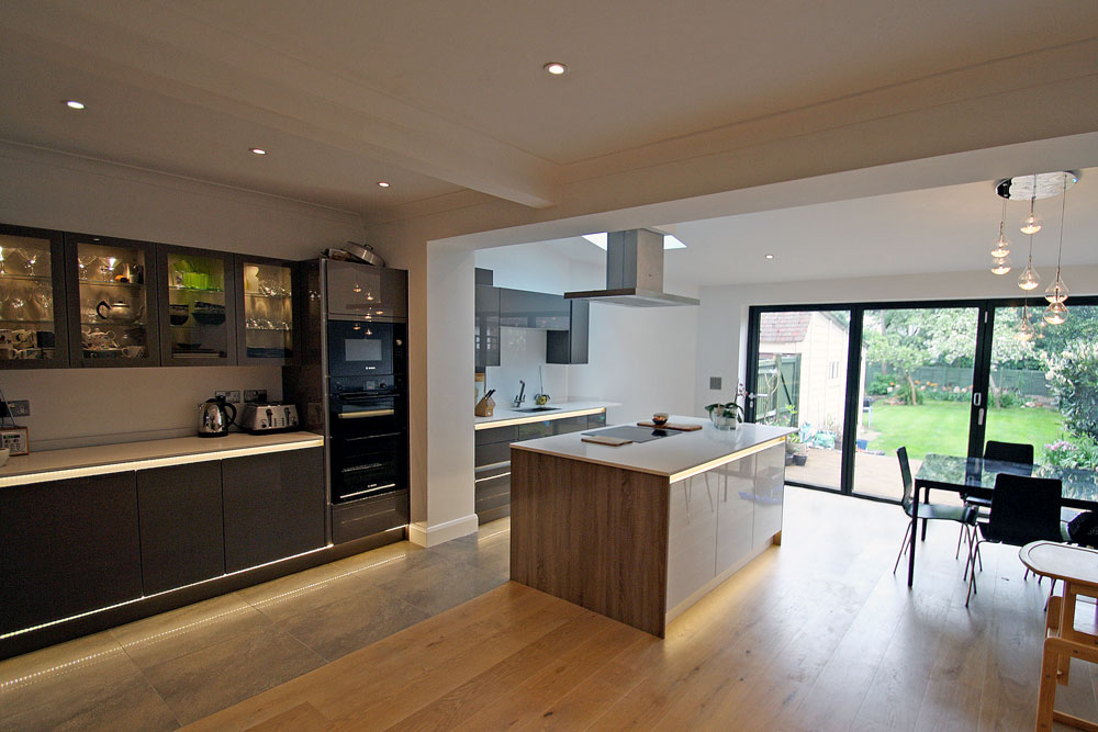 Rear Extension And Modern Kitchen Design Refurb In New Malden Seal Homes