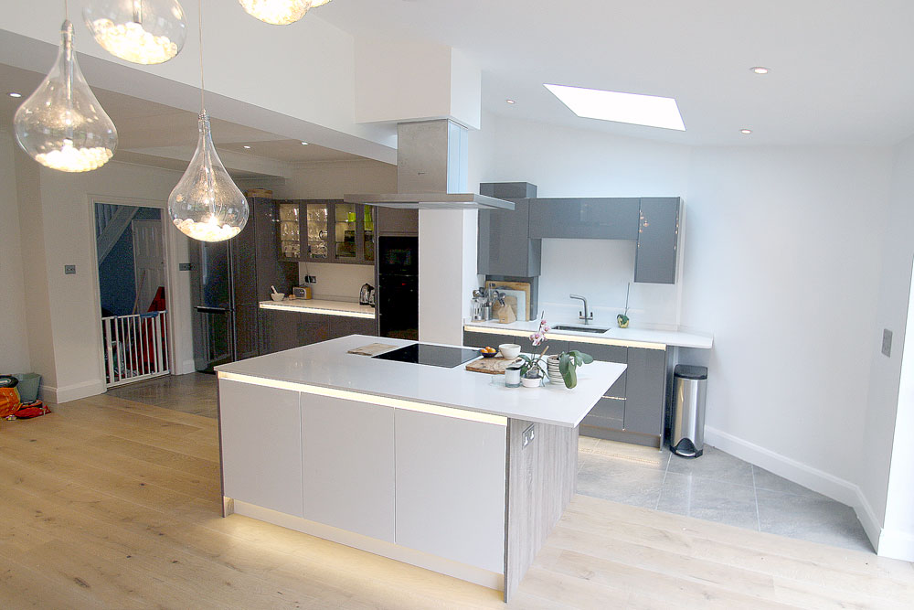 Rear Extension And Modern Kitchen Design Amp Refurb In New