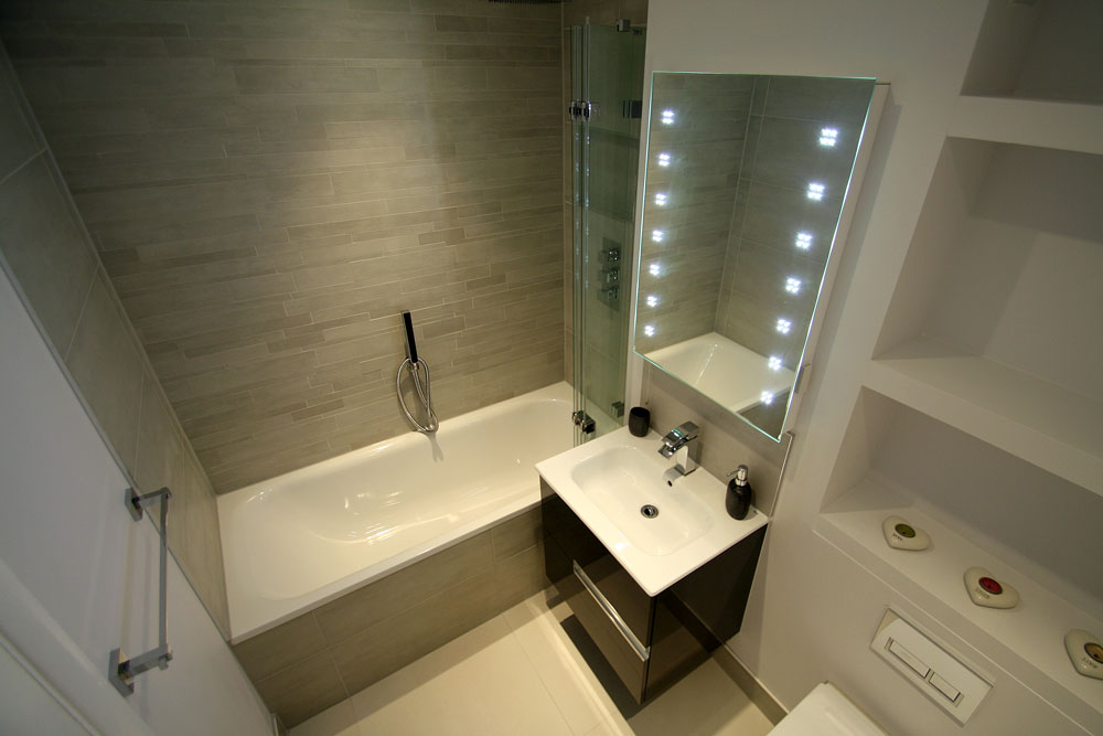 feature wall bathroom tiles bathroom renovation in kingston upon thames seal homes 18292